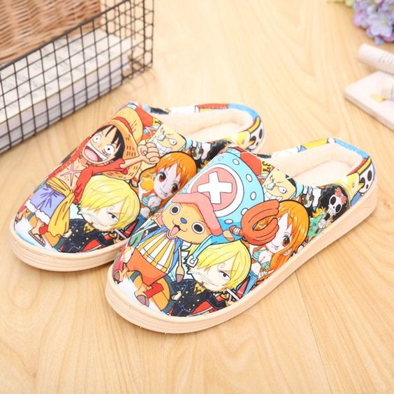 Onecos Anime One Piece Winter Cotton Slippers Cosplay Size 8 US * For more information, visit image link.