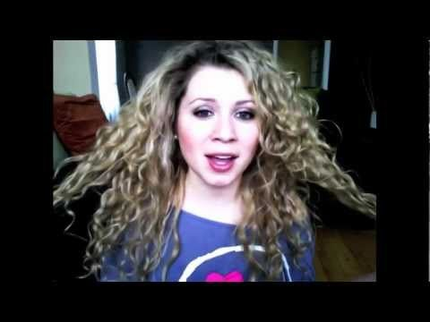 curly hair routine using paul mitchell round trip veronica