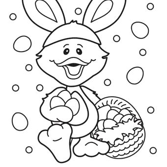 Free Easter Duck Coloring Page | Hippity, Hoppity- Easter ...