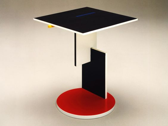 """""""'He was the wise old man of Dutch design"""" - WIM CROUWEL - (""""Schroeder Side Table"""" designed by Gerrit T. Rietveld in 1922 for Cassina. Materials: Lacquered wood)"""
