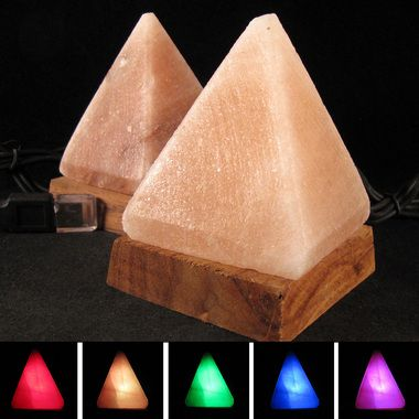 Colored Salt Lamp Bulbs : COLOR CHANGING Mini Pyramid Himalayan Salt Lamp USB USD 18.00 Himalayan Salt Lamp Pinterest ...