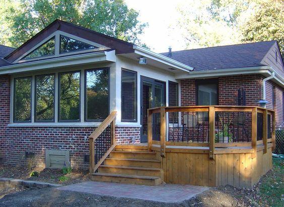 Seasons decks and design on pinterest for 4 season porch