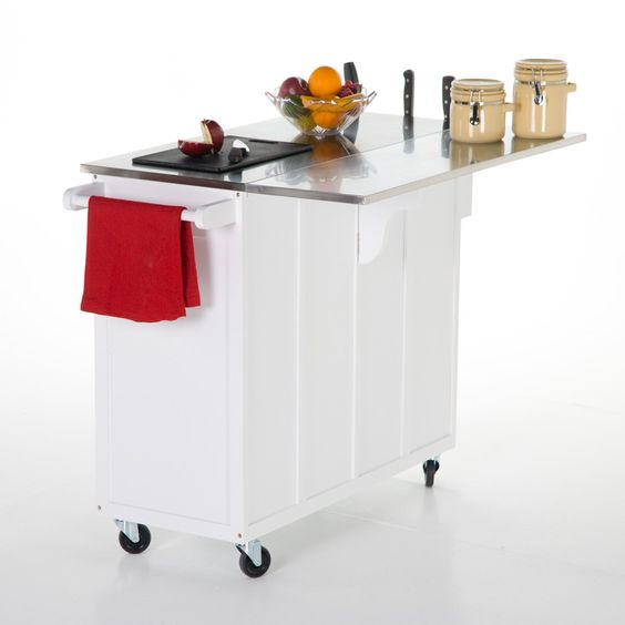 The Randall Portable Kitchen Island With Optional Stools Kitchen Islands And Carts At