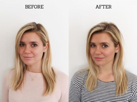 A skin cleanse before and after by LaurenConrad.com