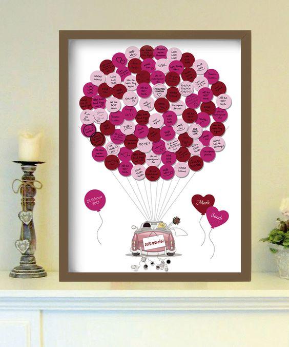 Hochzeitsgästebuch - AUTO - up in the air - Gästeplakat - ein Designerstück von foryoudesign bei DaWanda