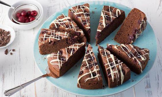 Schoko-Kirsch-Kuchen » Sanella