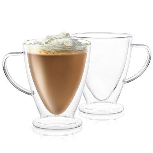 Joyjolt Declan Irish Glass Coffee Cups Double Wall Insula Https Www Dp B07g1v3nwl Ref Cm Sw Insulated Mugs Glass Coffee Cups Insulated Glasses