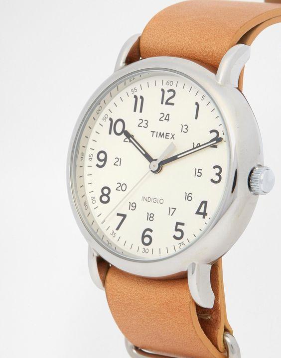 Immagine 3 di Timex - Weekender T2P492 - Orologio con cinturino in pelle