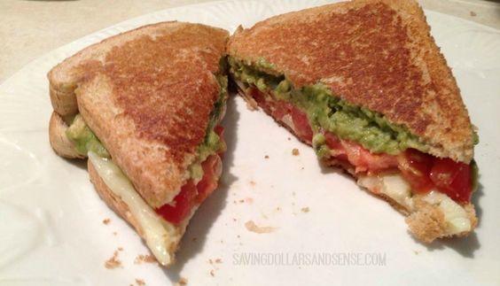 grillet avocado tomat og pepperjack