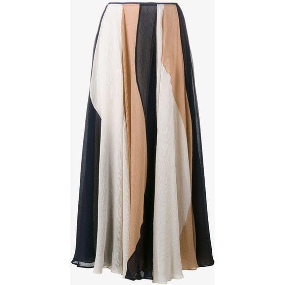 ROKSANDA Stripe Silk Midi Skirt ($1,565) ❤ liked on Polyvore ...
