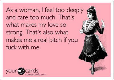 As a woman....