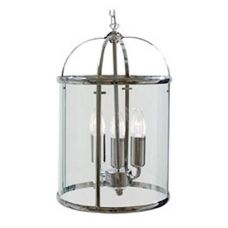 Chrome 3-Light Hanging Hallway Lantern