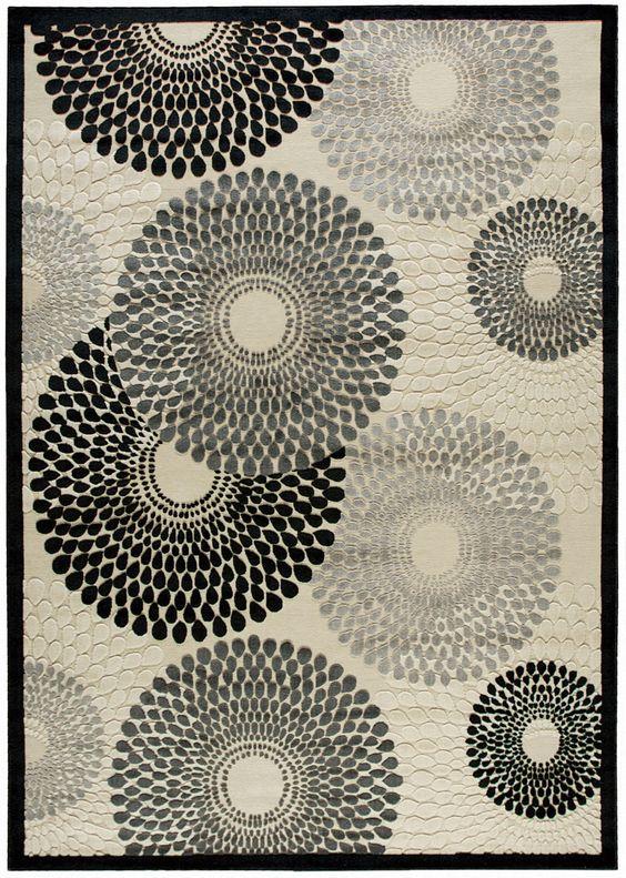 Nourison Graphic Illusions Parchment Area Rug GIL04 PARCH (Rectangle)