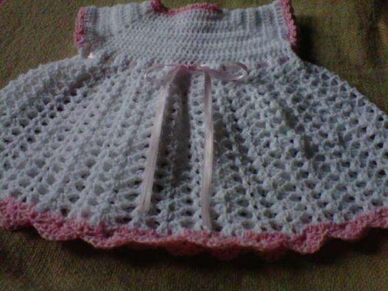 Vestido de bebé de 0 a 3 meses a crochet patrones - Imagui