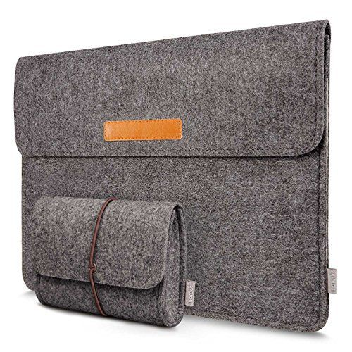 Inateck 13.3 Inch MacBook Air/ Retina Macbook Pro/ 12.9 Inch iPad Pro Sleeve Case Cover Ultrabook Netbook Carrying Case Protector Bag  Dark Gray