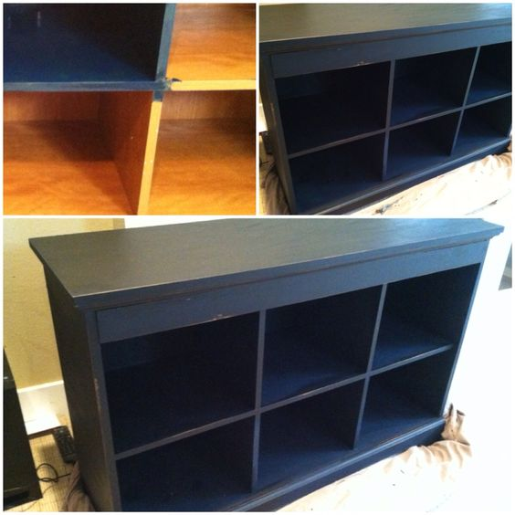 Copycat Pottery Barn 39 S Famous Black Finish With Lowes Chalk Paint And Wax Finish Home