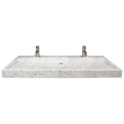 Polished Carrara Marble Trough Sink Beautiful bathroom Pinterest