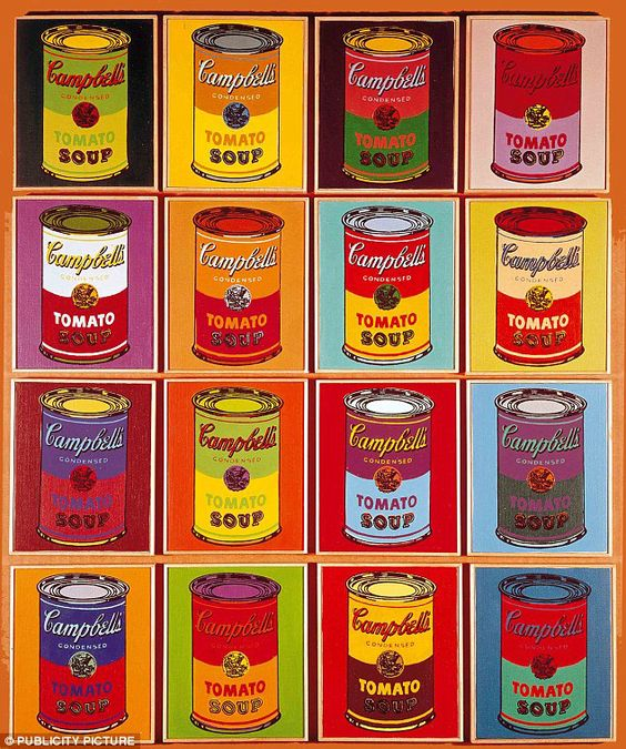 Andy Warhol Paintings | Campbell's Soup Pop Art Packaging Inspired By Andy Warhol:
