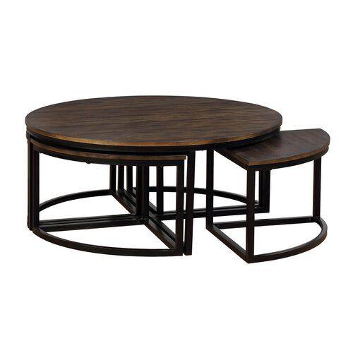 Gracie Oaks Hensley 5 Piece Coffee Table Set Wayfair Nesting