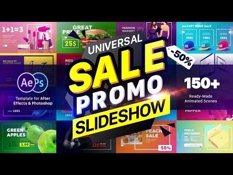 Sale Promo Slideshow Pack After Effects Template Youtube With