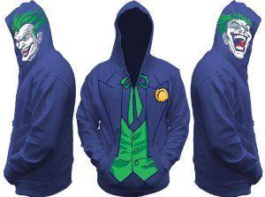 Mens DC Comics The Joker Costume Hoodie $60.00