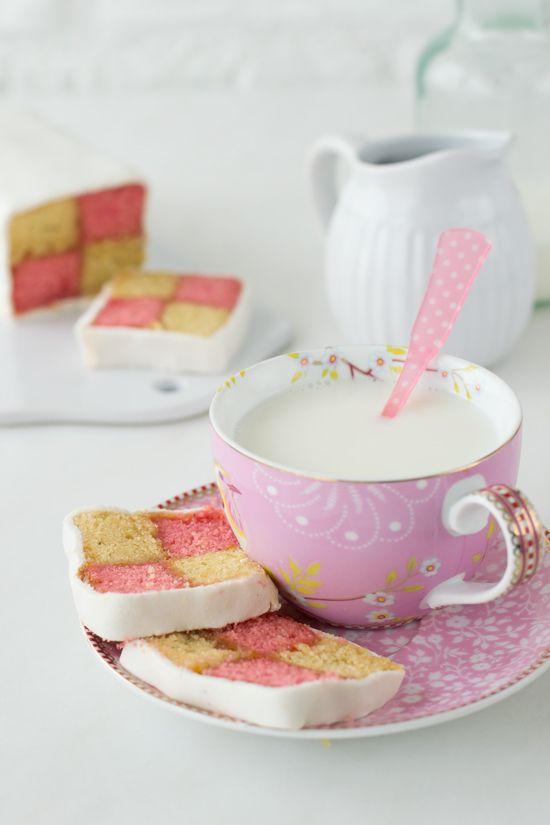 Cómo hacer un Pastel Battenberg - Megasilvita