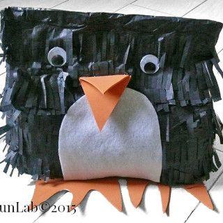 Idee per feste di compleanno: pentolaccia fai da te (pignatta Pinguino)