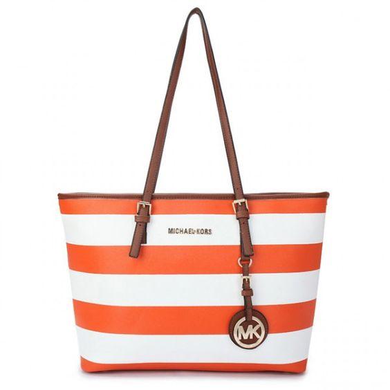 17f6b5699660 Michael Kors Striped Large Orange Tote teal tote handbag - Marwood ...