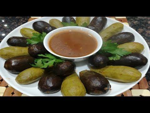 طريقة عمل محشي الكوسا والباذنجان للشيف ندى اليحيى Youtube Food Fruit Olive
