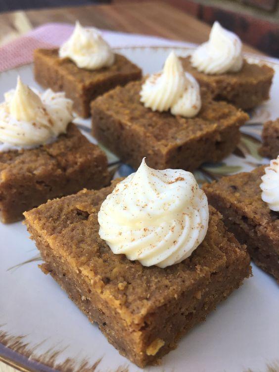 Pumpkin Pie Bars Keto Low Carb Recipe Pumpkin Pie Bars