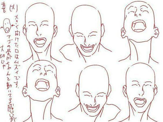 Como Dibujar Caras Y Cabezas De Mujer Y Hombre Facilmente El Como De Las Cosas Dibujos De Caras Expresiones De Dibujo Dibujo De Posturas