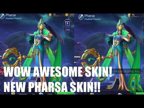 New Pharsa Elite Skin Entrance Animation Peafowl Pharsa Mobile Legends Youtube Mobile Legends Legend Animation