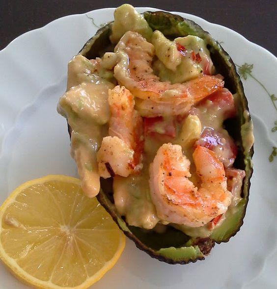 Andrea´s Kochbuch: Avocado-Salat mit Gambas