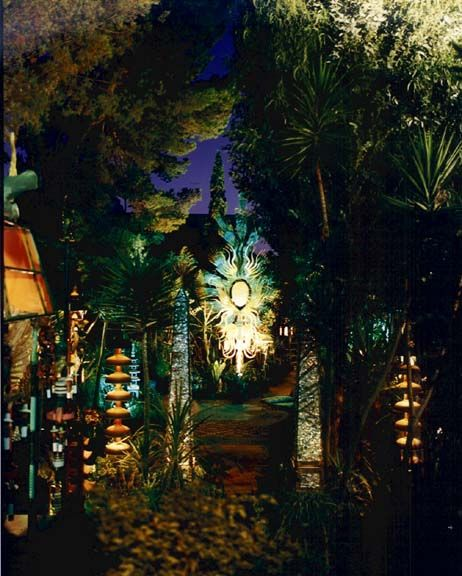 Tony Duquette's Dawnridge... path to his 28' sculpture The Phoenix Rising From It's Flames