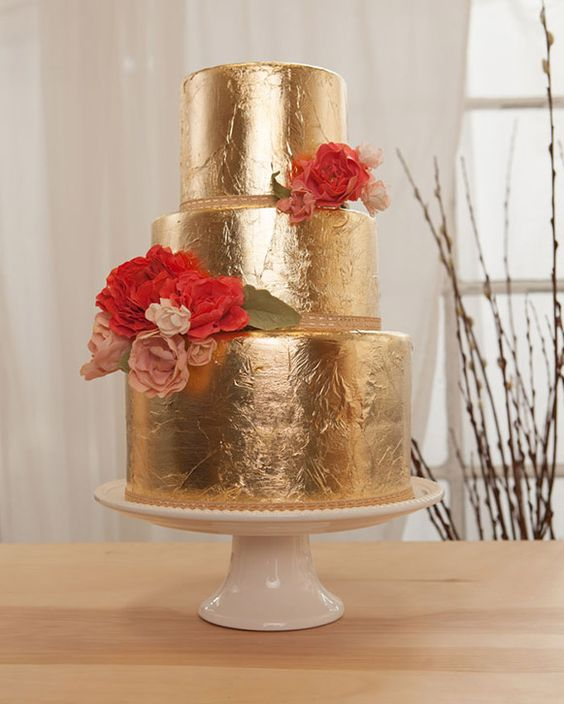 wedding cake gold foil gold foil wedding cake bicyclette sf gold wedding 22777