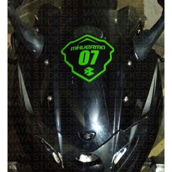 Racing Style Name And Number Sticker For Bajaj Pulsar Dominar