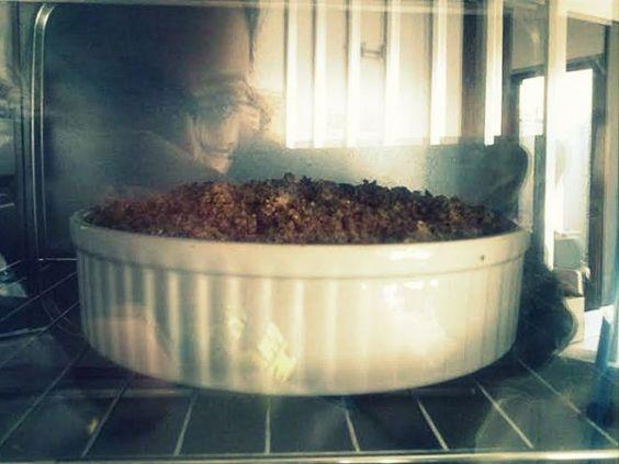 (El mejor) Crumble de melocotón, arándanos y frambuesas – (The best) Peach, Blueberry and Rasperry Crumble | saboresdeunavida