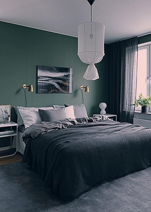 Schlafzimmer Farben Grün