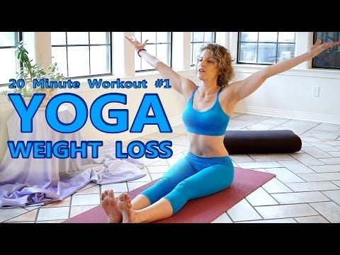 ▶ Yoga For Weight Loss & Flexibility Day 1 Workout - Fat Burning 20 Minute Beginners Class - YouTube