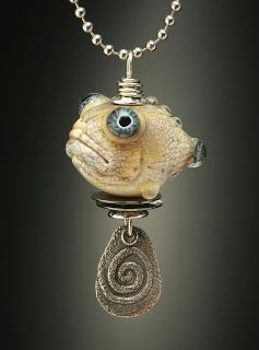 love this!    Wayne Robbins glass grouper pendant, www.mountainrobbins.blogspot.com