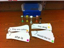 Fluency Center - Add sand timers to bump up the activity.  Differentiate them by color-coding to help students identify which phrases to work on. Add reading phones so students can hear themselves read.
