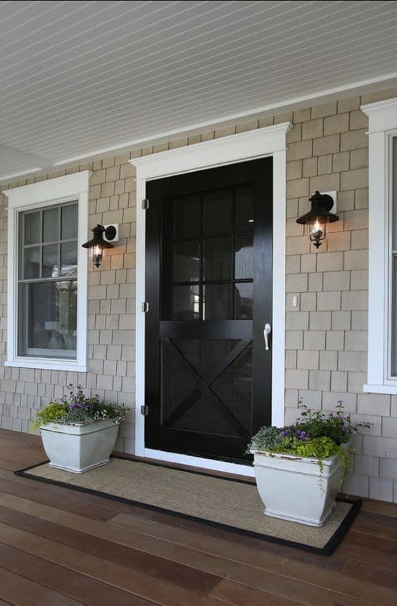 Front Door Update Ideas With Images House Exterior Front Door Front Porch Decorating