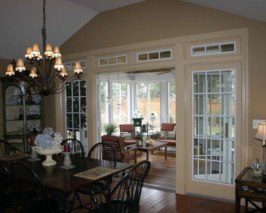 I like the idea of having the back wall of the dining room for 3 season porch furniture