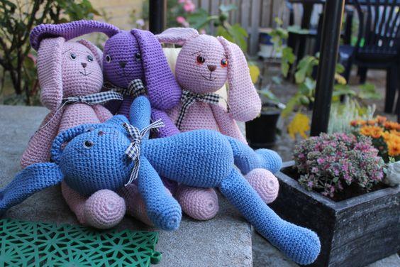My colourful crochet friends.