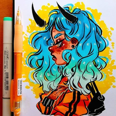 Yellow Is Life Doodle Marker Sketch Copic Drawing