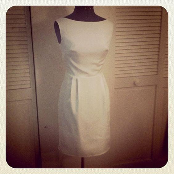 Simple Wedding Dress Knee Length Vintage inspired by kayemkay on Etsy