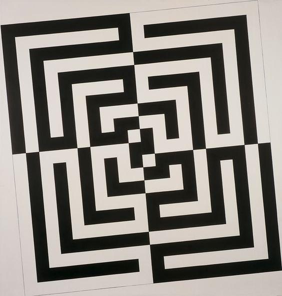 Le blanc, le gris, le noir et le blanc , 1990-91, Oil on canvas, 207 x 198 cm, photo André Morain, Collection Fond National d'Art Contemporain, Paris, France