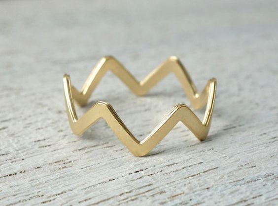 Cruz Ring stacking rings minimalist Mexican by shlomitofir on Etsy, $39.00