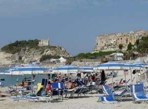 Tropea in the region of Calabria, in the south of Italy. part of town biult into cliffs!