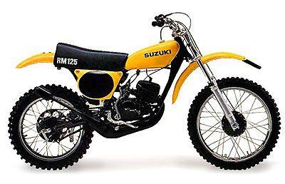 1975 Suzuki RM125 Dirt Bike - my friend Pam and I roads them whenever we could